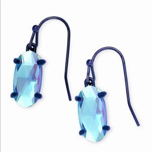 Lemmi Dichroic Glass Drop Earrings